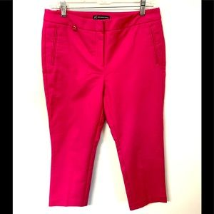 Adrianna Papell hot pink skinny cropped pants #83B
